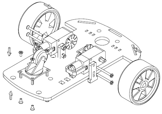 Wd arduino robot chassis kit car motor sketch coloring page