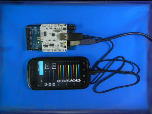 Usb host adk shield for android rev arduino compatible